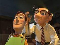 Geri airbrushing Woody's head