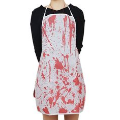 BLOOD SPLATTERED HALLOWEEN BLOODY APRON CHEF KITCHEN COOK FANCY DRESS COSTUME in Clothes, Shoes & Accessories, Fancy Dress & Period Costume, Fancy Dress | eBay