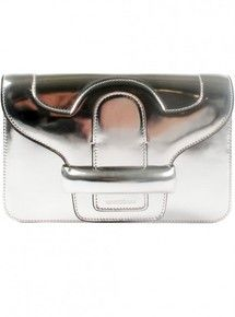 Found! Vanessa Bruno Silver Front Flap Clutch at personalshopping.com