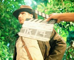 "Harrison Ford on the set of ""Raiders of the Lost Ark"""