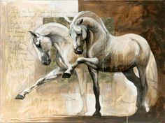 Horse Art: Élise Genest - Cavalcade Equestrian Fashion and Culture