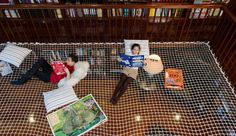 A reading net in the library by Book Riot Cool Kids Bedrooms, Cool Rooms, Kid Rooms, Kids Reading, Reading Room, Reading Time, Mathieu Lehanneur, Creative Kids Rooms, Creative Studio