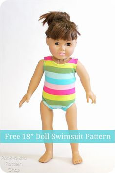 Free 18″ Doll Swimsuit and Leotard Pattern
