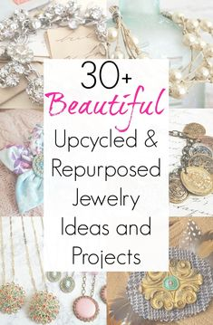 Upcycled Jewelry and Jewelry Making Ideas for One of a Kind Accessories - Jewelry making ideas for repurposed jewelry with broken jewelry and upcycling ideas - Diy Upcycled Art, Repurposed, Upcycled Furniture, Furniture Ideas, Upcycled Vintage, Custom Jewelry, Jewelry Art, Handmade Jewelry, Boho Jewelry