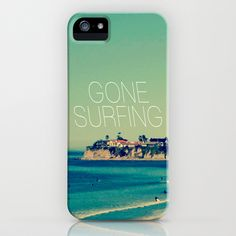 Gone Surfing Vintage California Beach iPhone & iPod Case by RexLambo - $35.00