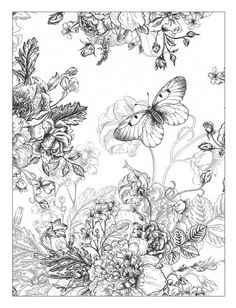 Beautiful Flowers – Detailed Floral Designs Coloring Book is a coloring book for adults and smart children. Featuring beautiful elaborated floral designs, this book is designed to help you unwind and relax. The activity of coloring has been shown t. Printable Flower Coloring Pages, Alphabet Coloring Pages, Coloring Pages To Print, Coloring Book Pages, Coloring Sheets, Flores Vintage Png, Detailed Coloring Pages, Black Flowers, Floral Flowers