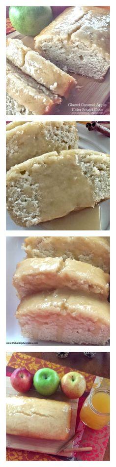 Glazed Caramel Apple Cider Pound Cake – The Baking ChocolaTess