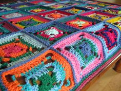crochet a bright, happy blanket