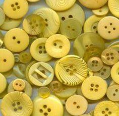 100 Mixed Goldenrod Yellow Buttons  bulk by moggyssupplyshop, $6.00