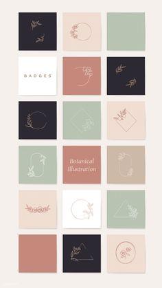 Color palette for home Instagram Design, Layout Do Instagram, Web Design, Logo Inspiration, Entrepreneur Inspiration, Conception Web, Feeds Instagram, Instagram Grid, Floral Logo