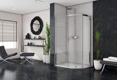 Image Showers. high end shower doors.  shower doors . Made in Ireland Guide System, Power Shower, Safety Glass, Shower Doors, Polished Chrome, Showers, Oversized Mirror, Ireland, Wall