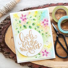 Pretty watercolored card with a focal point sentiment. Find out more by clicking on the following link: http://limedoodledesign.com/2016/05/sentiment-focal-point/