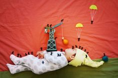 Some of the fairytales are more obvious and literal than others. Here, a sleeping Wengenn becomes his own Gulliver, traveling through his dr...