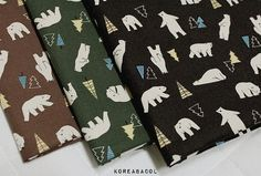 Nordic Fabric Nordic Pattern 44x35 100% Cotton 20s by KoreaBacol