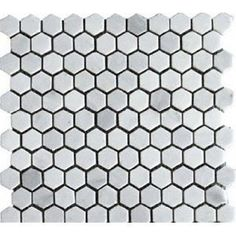 "Amazon.com: White Marble 1"" Hexagon HONED Mosaic Tile Meshed on 12x12 sheet: Home & Kitchen"