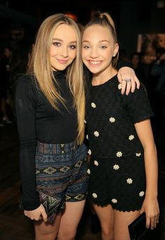 Actress/recording artist Sabrina Carpenter (L) and TV personality Maddie Ziegler attend the NYLON Young Hollywood Party presented by BCBGeneration at HYDE Sunset: Kitchen + Cocktails on May 7, 2015 in West Hollywood, California.