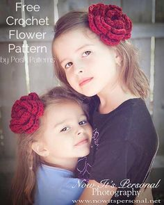 This free crochet flower pattern makes an elegant layered blossom that is perfect for hair accessories, or to add to a cute hat.