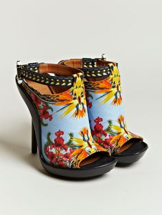 These just SCREAM summer...I can't wear stilettos, but I love those prints! (Givenchy)