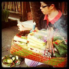 Morning offerings in Bali by uncorneredmarket, via Flickr