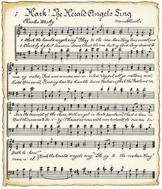 printable vintage christmas music