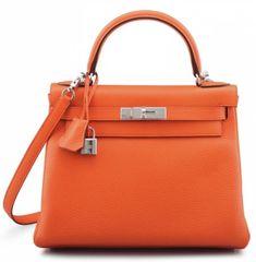 Christie's Handbag shop offers an unparalelled collection of rare designer handbags from Hermès, Chanel & more. Hermes Kelly Bag, Hermes Kelly Taschen, Orange Poppy, Handmade Accessories, Dust Bag, Shoulder Strap, Charms, Shoe Bag, Leather
