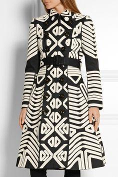 Burberry Prorsum | Crochet-appliquéd cotton trench coat | NET-A-PORTER.COM