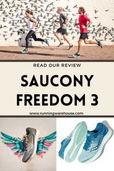 Read Running Warehouse's in-depth multi-tester review of the brand new Saucony Freedom 3, a running shoe that provides a soft yet bouncy ride at any tempo. - #run #running #runner #motivation #habit #goals #training #workout #health #fitness #fast #jog #walk #nike #newbalance #hoka #altra #brooks #adidas #marathon #race #sneaker #athletic #exercise #best #top #sprint #speed #cushioning #lightweight #plush #versatile #men's #women's Running Shoe Reviews, Lightweight Running Shoes, Saucony Shoes, Freedom Of Movement, Running Training, Marathon, Jogging, Sneaker, Health Fitness