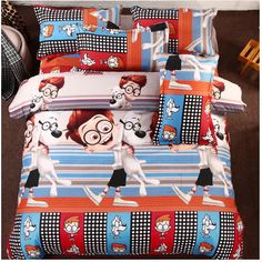 Find More Bedding Sets Information about Polyester/cotton 3D Mr. Peabody & Sherman cartoon bedding set comforter cover set kids/adult duvet cover sheet set 3D bed linen,High Quality bed linen cotton,China bed linen baby Suppliers, Cheap bed linen silk from ALLSGROUP on Aliexpress.com