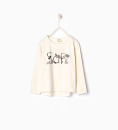 """Soft"" appliqué T - shirt - View all - T - shirts - Girl | 3 - 14 years - KIDS | ZARA Turkey"