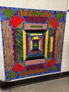 Tottenham Court Road tube station mosaic – design by Eduardo Paolozzi, mosaic by Gary Drostle
