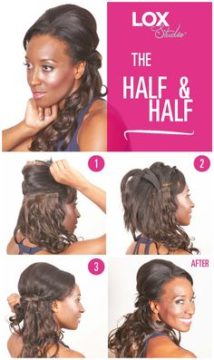 Quick and easy holiday hair ideas the untidy bun using lox studio quick and easy holiday hair ideas the half and half using lox studio hair extensions pmusecretfo Images