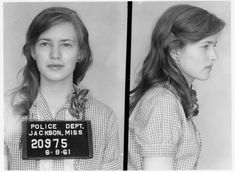This gorgeous young woman is Joan Trumpaeur Mulholland. She was a Freedom Rider in the 1960's, arrested for protesting segregation.