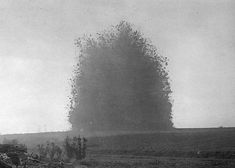 The big bang: The detonation of buried British mines that formed the Lochnagar crater. The blast was heard 160 miles away in London in 1917