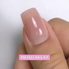 On average, the finger nails grow from 3 to millimeters per month. If it is difficult to change their growth rate, however, it is possible to cheat on their appearance and length through false nails. Are you one of those women… Continue Reading → Polygel Nails, Cute Nails, Pretty Nails, Hair And Nails, Coffin Nails, Toenails, Diy Gel Nails, French Manicure Gel Nails, Gel Nail Kit