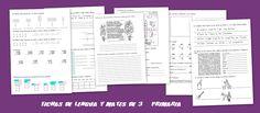 Fichas de lengua y matemáticas de Primaria - Escuela en la nube