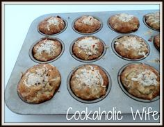 Banana Coconut & Pineapple Muffins... They need more pineapple in my opinion