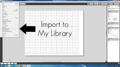 how to Import and cut images- need to figure out how to import all the free images I've been collecting.