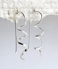 Look what I found on #zulily! Sterling Silver Simple Coil Drop Earrings #zulilyfinds