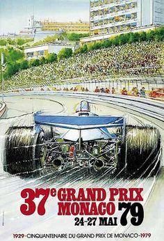 Grand Prix de Monaco 1979 Vintage Poster