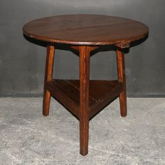 Welsh Cricket Table  19th C Welsh pine cricket table. 1820