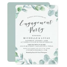 #engagement #party #invitations - #Delicate Wreath | Engagement Party Invitation