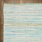 Found it at Wayfair - Striped Area Rug in Blue