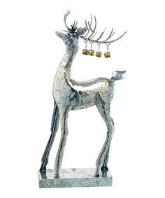 Look what I found on #zulily! Metal Deer & Bells Figurine #zulilyfinds