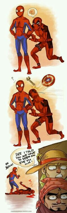 Deadpool & Spider-Man... ohmygod, i'm screaming here XD