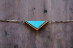 Recycled Skateboard Jewelry | Mini Tremont Necklace
