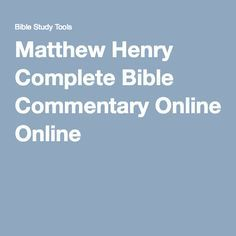 matthew henry commentary on the whole bible complete pdf