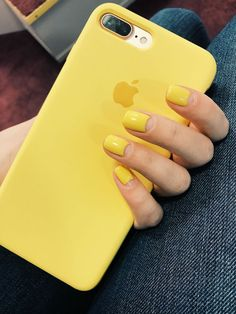 Short and Simple Nail Acrylic Ideas To Show Your Glamour in This Summer Yellow nails / summer nails / маникюр РYellow Nails Design, Yellow Nail Art, Accessoires Iphone, Super Nails, Nagel Gel, Nail Decorations, Halloween Nails, Simple Nails, Trendy Nails
