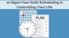 """Is over-scheduling ruining you and your business? We've got the 10 signs of """"guilt scheduling"""" and 5 ways to prevent it from taking over. Go It Alone, Life Plan, Online Marketing, Schedule, Periodic Table, Social Media, Good Things, Let It Be, How To Plan"""