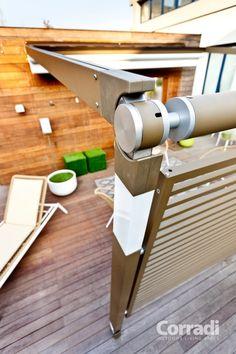 Aménagement terrasse avec auvent rétractable et brise-vue par ...
