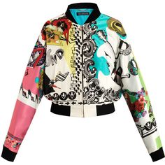 Versace Rock and Roll bomber jacket ($1,617) ❤ liked on Polyvore